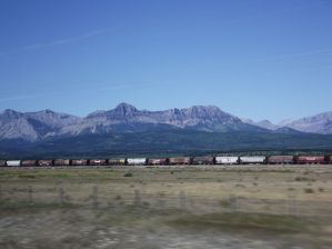 Train passing through the Rockies (Celeste Pang)