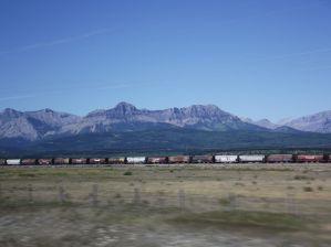 Train passing through the Rockies (Celeste Pang)