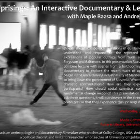 The Uprisings: An Interactive Documentary & Lecture with Maple Razsa and Andrej Kurnik