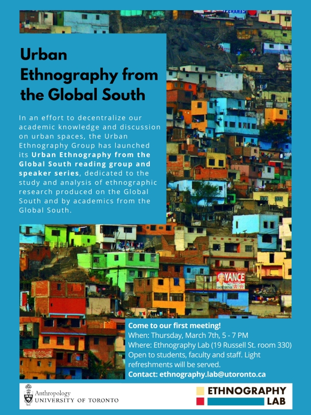 Urban ethnography group Poster #1