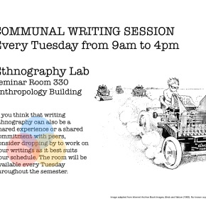 COMMUNAL WRITING SESSION Every Tuesday from 9:00am to 4:00pm