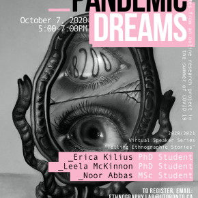 "Speaker Series: ""Pandemic Dreams – Notes From an Online Research Project in the Summer of COVID-19"""